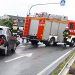 Zderzenie 3 aut w Ociążu. 1 osoba ranna