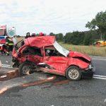 Zderzenie 3 aut na DK11. Cud, że nikt nie zginął
