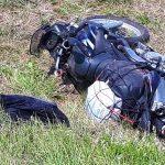 Motocyklem wyleciał z drogi przy Com40