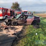5 osób rannych po zderzeniu ciężarówki z osobówką