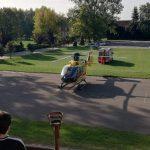 Śmigłowiec LPR wylądował przed szkołą w Przygodzicach. Wiemy dlaczego
