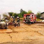 Pożar w Rososzycy w kontenerze na złomowisku