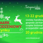 Zapowiedź Jarmarku Bożonarodzeniowego