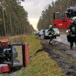 Zderzenie traktora i osobówki (aktualizacja)