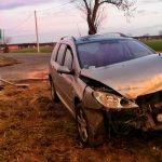 Zderzenie dwóch Peugeotów koło Gorzyc Małych