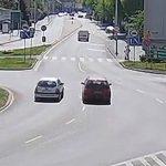 Kolizja na Rondzie Bankowym – 9 maja 2020 (wideo)