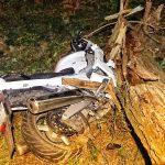 Motocykl wbił się w drzewo. Poważny wypadek w Antoninie