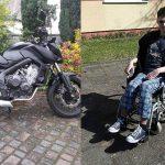Wygraj motocykl za 50 zł pomagając sparaliżowanemu Mateuszowi, który wypadł z autobusu